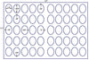 US8369 - 1.5'' x 1.875'' 50 up Oval label on a 11'' x 17'' laser sheet. - uslabel.net - The Label Resource Center