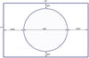 "US8503 - 9.25"" circle - 1 up label on a 11'' x 17'' laser sheet. - uslabel.net - The Label Resource Center"