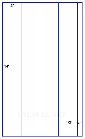 US9066 - 4 up 2'' x 14'' label on 8 1/2'' x 14'' sheet - 4,000 Labels.