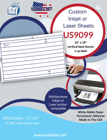 "13"" x 19"" Large Label Sheets"