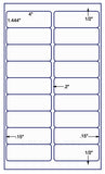 US9380 - 18 up 4'' x 1.444'' label on 8 1/2'' x 14'' laser sheet