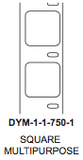 "Dymo 1"" x 1"" Square Premium Direct Thermal 1 wide Label on 1"" core - uslabel.net  America's label store."