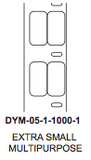 "Dymo .5"" x 1"" Premium Direct Thermal 2 wide Label on 1"" core - uslabel.net  America's label store."