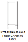 "Dymo 1.40625"" x 3.5"" Premium Direct Thermal 1 wide Label on 1"" core - uslabel.net  America's label store."