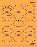 "US4340-2 1/2''x1 3/4''-15 up on a 8 1/2""x11"" label sheet."