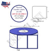 2.5'' x 2''   Thermal Transfer Labels on a 3 '' Core — 8 '' OD - uslabel.net  America's label store.