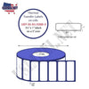 UST-35-01-5500-3-3 1/2'' x 1'' - 5,500 Labels 8''O.D. on 3'' core 22,000 labels - uslabel.net - The Label Resource Center