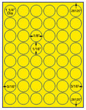"US4292-1 1/4''circle 48 up on a 8 1/2"" x 11"" label sheet."