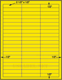 "US4428-2 1/2''x1/2''-60 up on a 8 1/2"" x11"" label sheet."