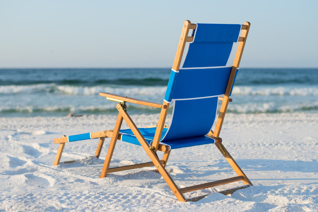 Beach Chairs With Footrest Wooden Beach Chairs Footrest Sunrise Chair Co