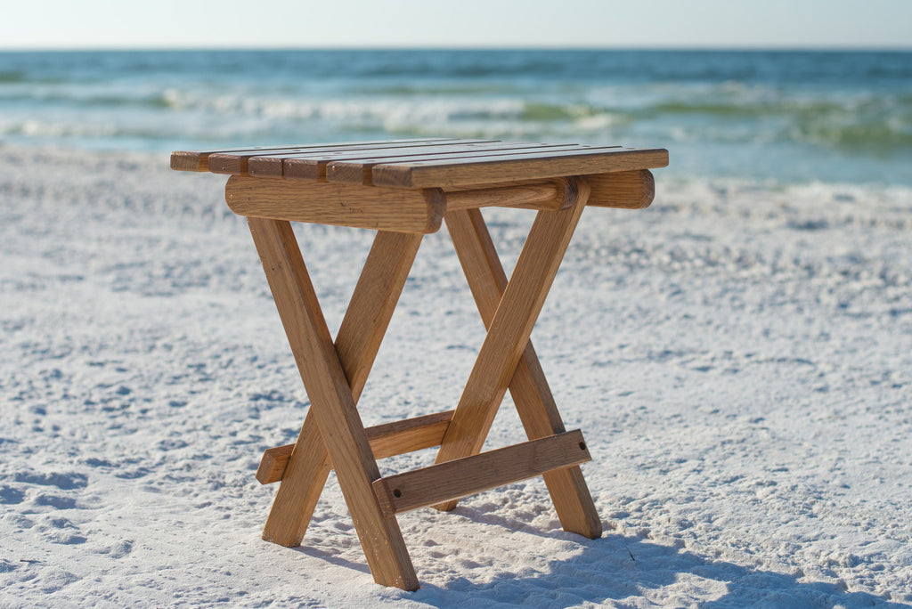 Handcrafted Wooden Tables Perfect Pair For Wooden Beach Chair Sunrise Chair Co