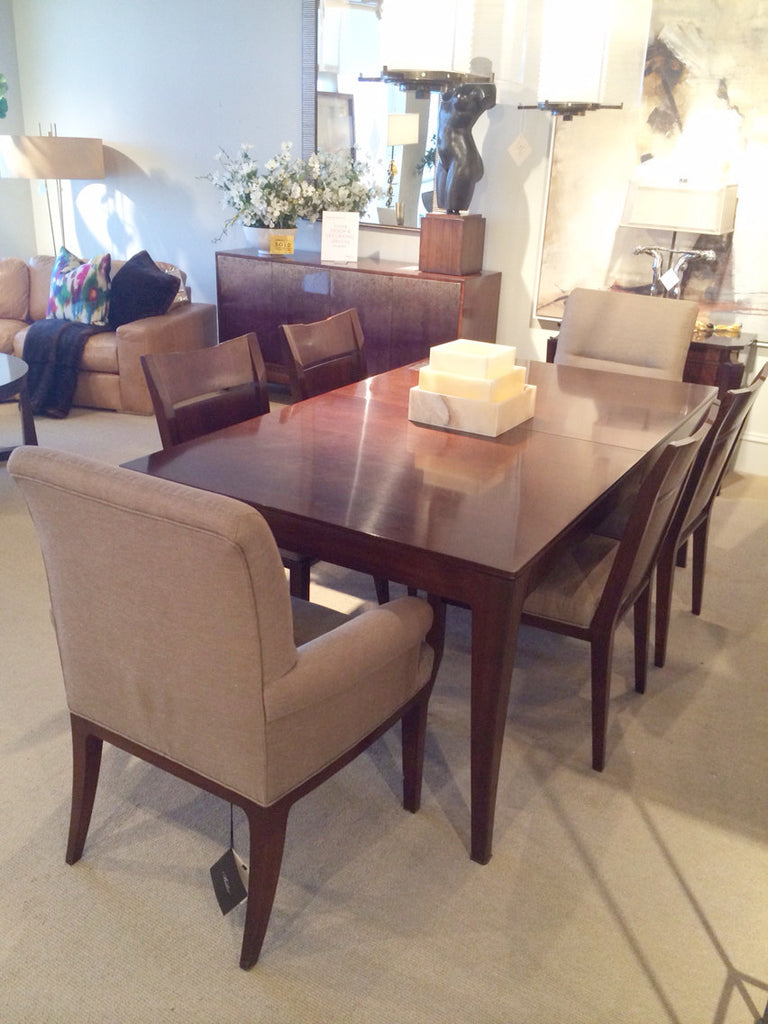 CLEARANCE   Baker Furniture   Bill Sofield Cheval Dining Table And Chairs    SAVE 60%
