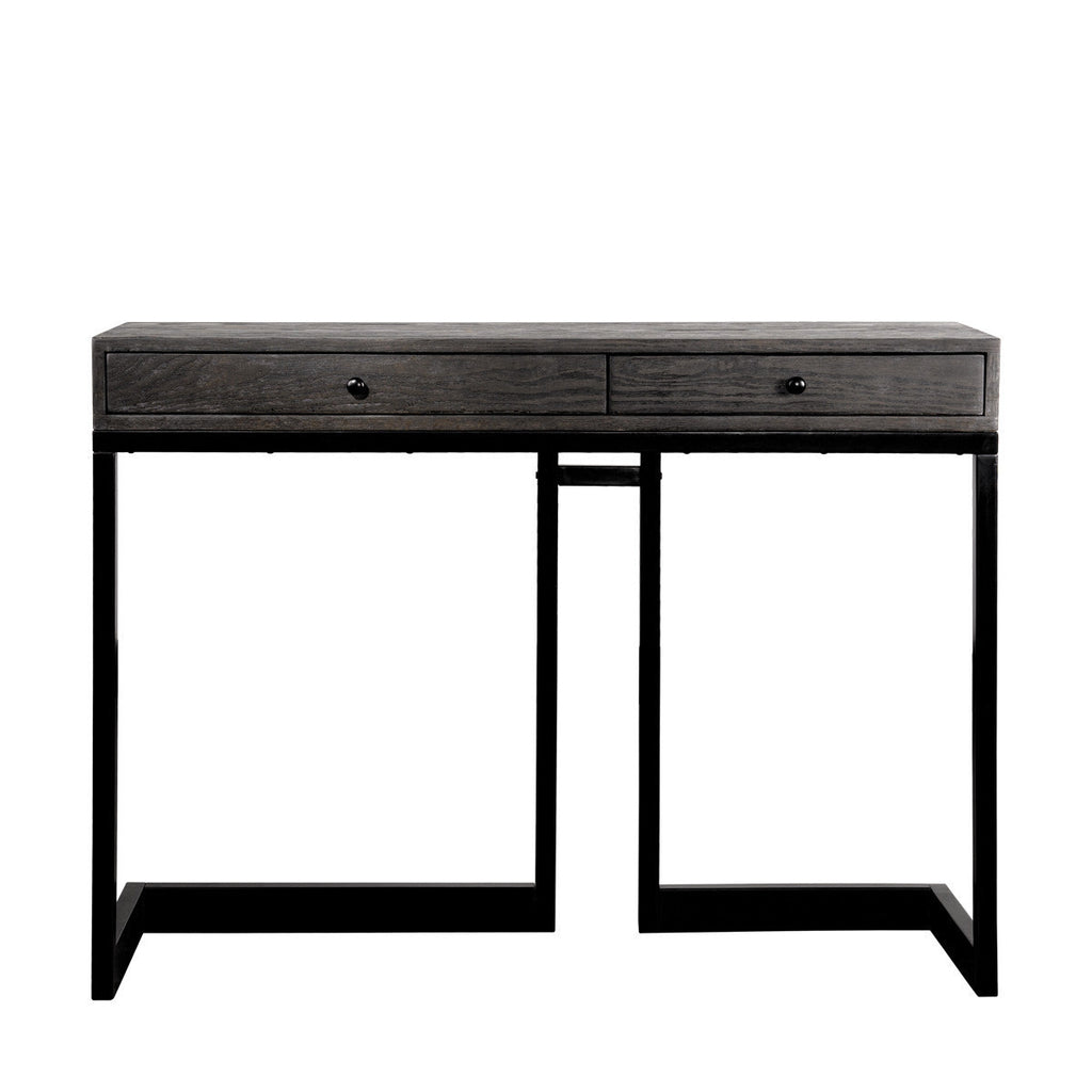 Picture of: Lyon Console Table In Black Metal Finish Cadieux Interiors Ottawa Furniture Store