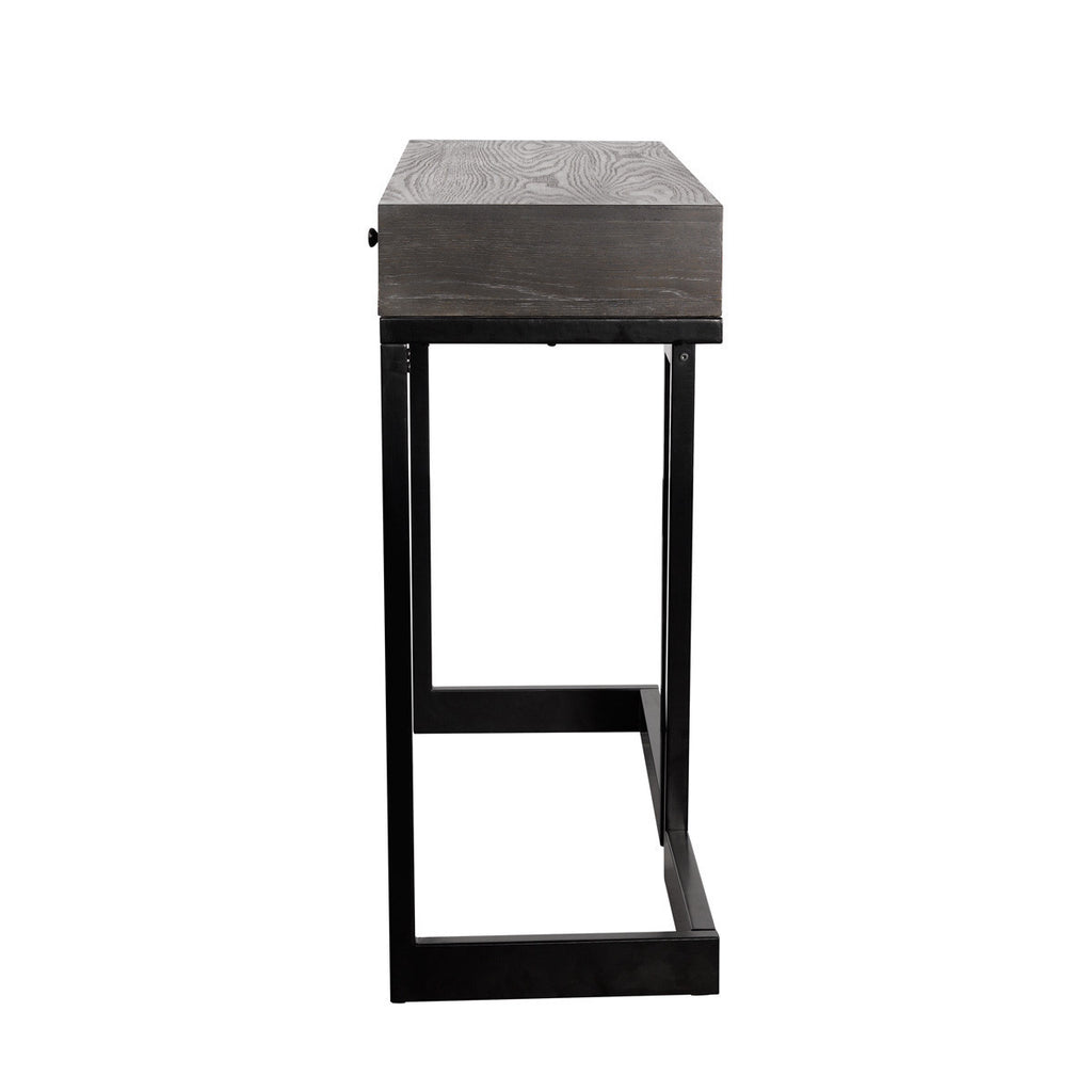 lyon console table in black metal finish  cadieux interiors  - lyon console table in black metal finish