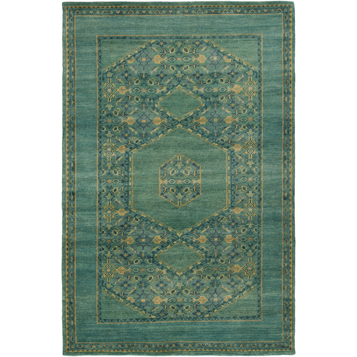 Haven Antique Wash Rug SAMPLE In Teal, Emerald And Kelly