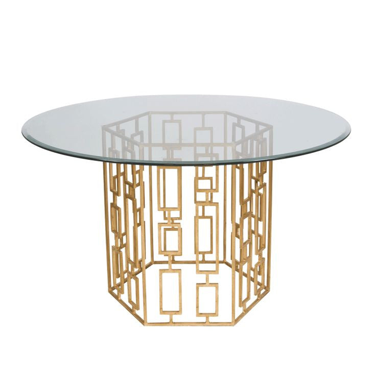 Jackson Gold Leaf Dining Table Cadieux Interiors Ottawa Furniture Store