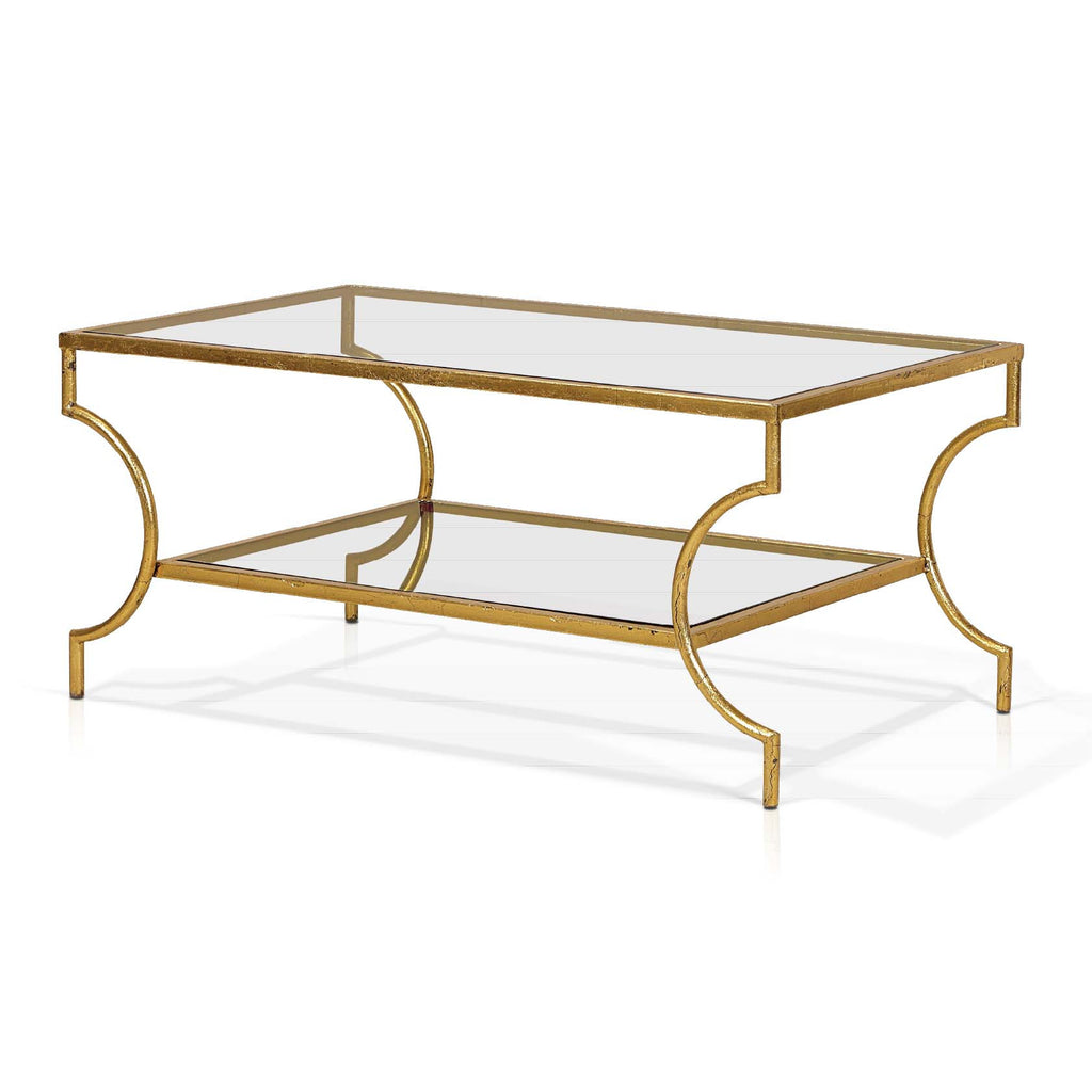 Palace Coffee Table In Antique Gold Leaf Cadieux Interiors Ottawa Furniture Store