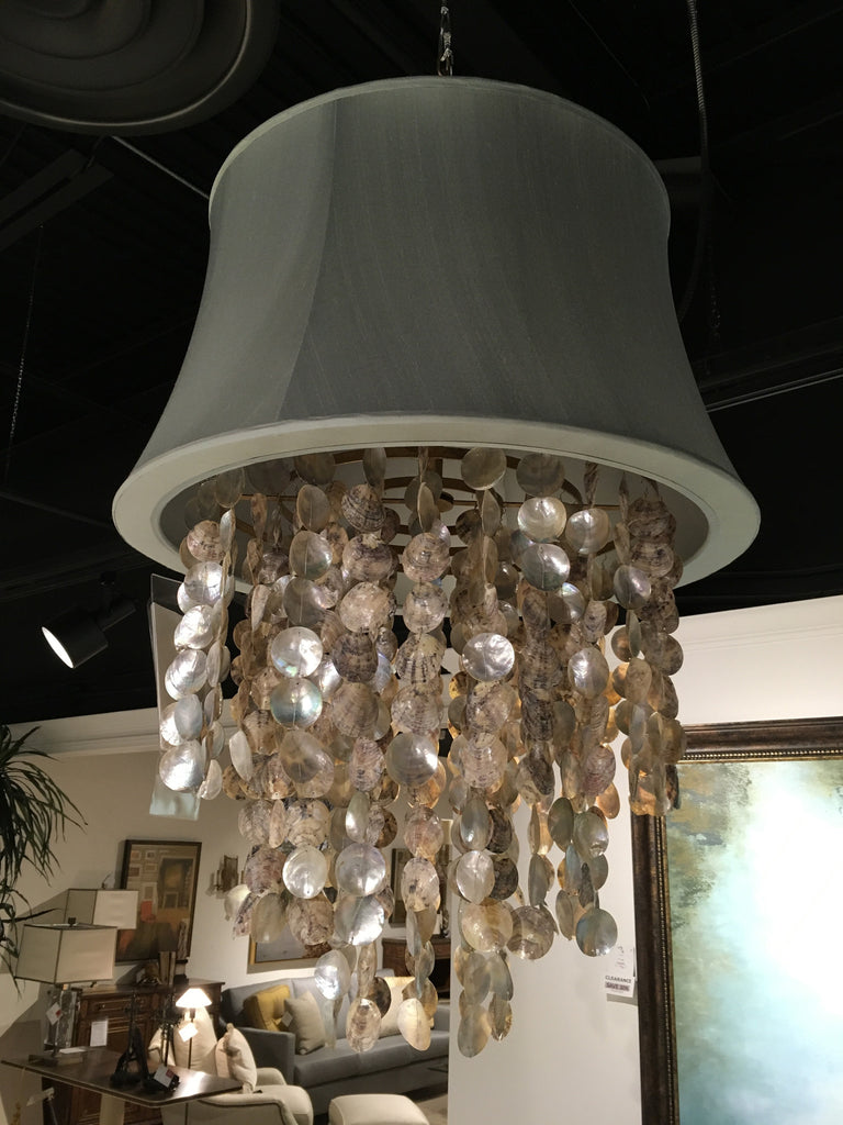 Abalone Waterfall Chandelier As Shown On Display