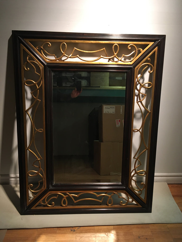 Scroll Gold Leaf Mirror As Shown On Display Cadieux Interiors