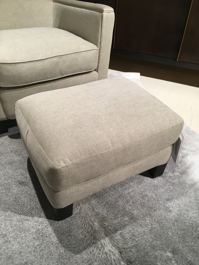 ottoman in tote stone as shown on display - Lee Industries Sofa