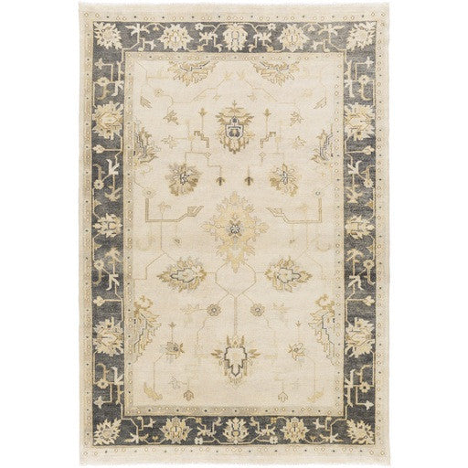 Hochwertig Istanbul Hand Knotted Rug In Beige And Olive
