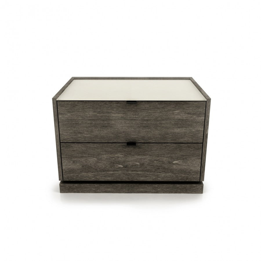 Cloe nightstand with glass top
