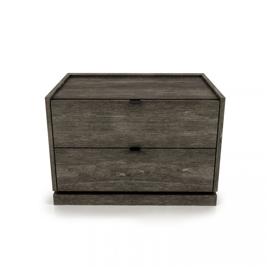 Cloe large nightstand with wood or glass top