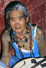 A female Kalinga traditional tattoo artist