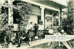 Standley sitting in front of his home in West Seattle