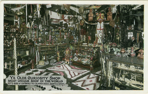 Ye Olde Curiosity Shop interior c1923