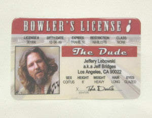 big lebowski id collectible