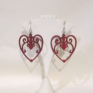heart earrings laser cut