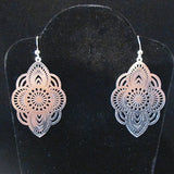 Laser cut earrings-Turin