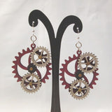 Working Gear earrings-4 gears