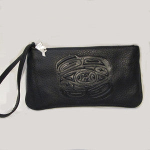 leather totemic wristlet