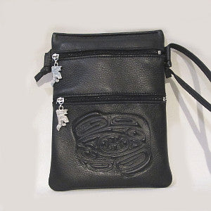leather totemic purse