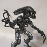 Recycled metal figure-Alien
