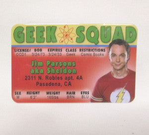 sheldon cooper id collectible