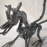 Recycled metal figure-dragon