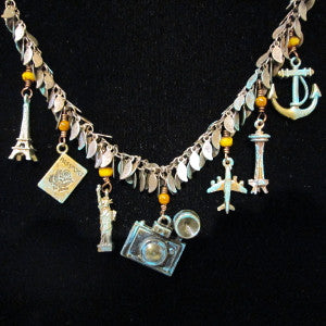 Travel charm necklace