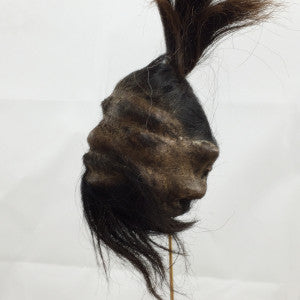 Goatskin shrunken head-small
