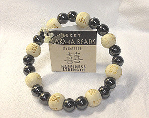 Lucky Karma Beads-Hematite/Natural