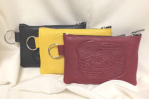 leather totemic coin purse