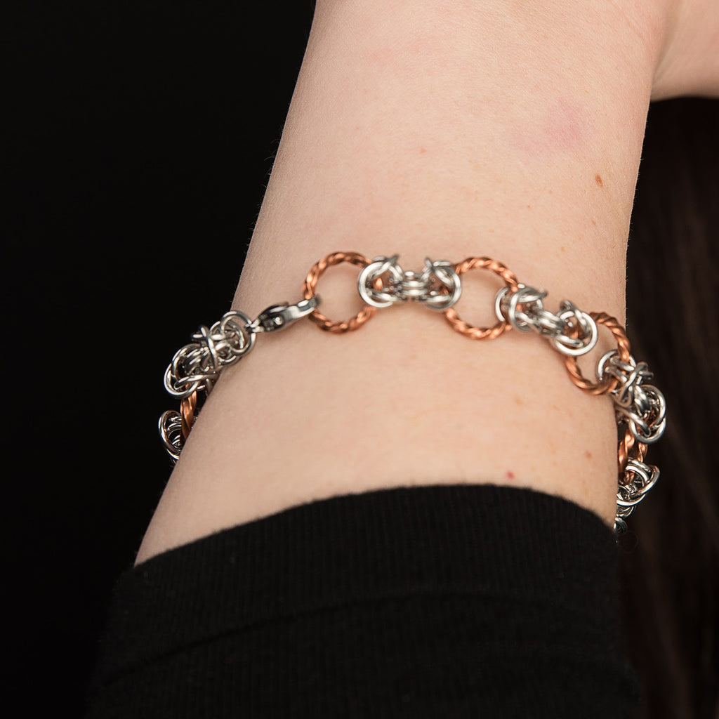 Twisted Copper Byzantine Bracelet