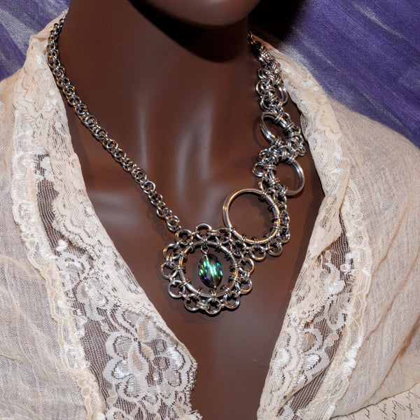 Clockwork Asymmetric Necklace