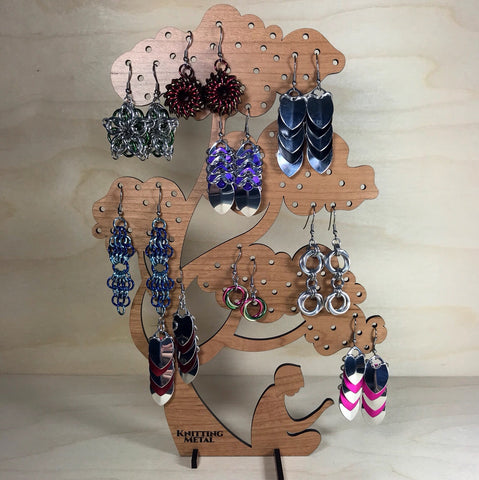 Knitting Metal Earring Tree