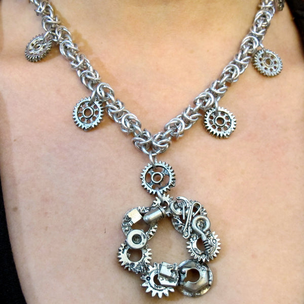 Steampunk Byzantine Necklace