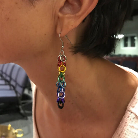 Jangle rainbow earrings