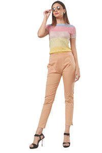 Straight Pants (Beige)