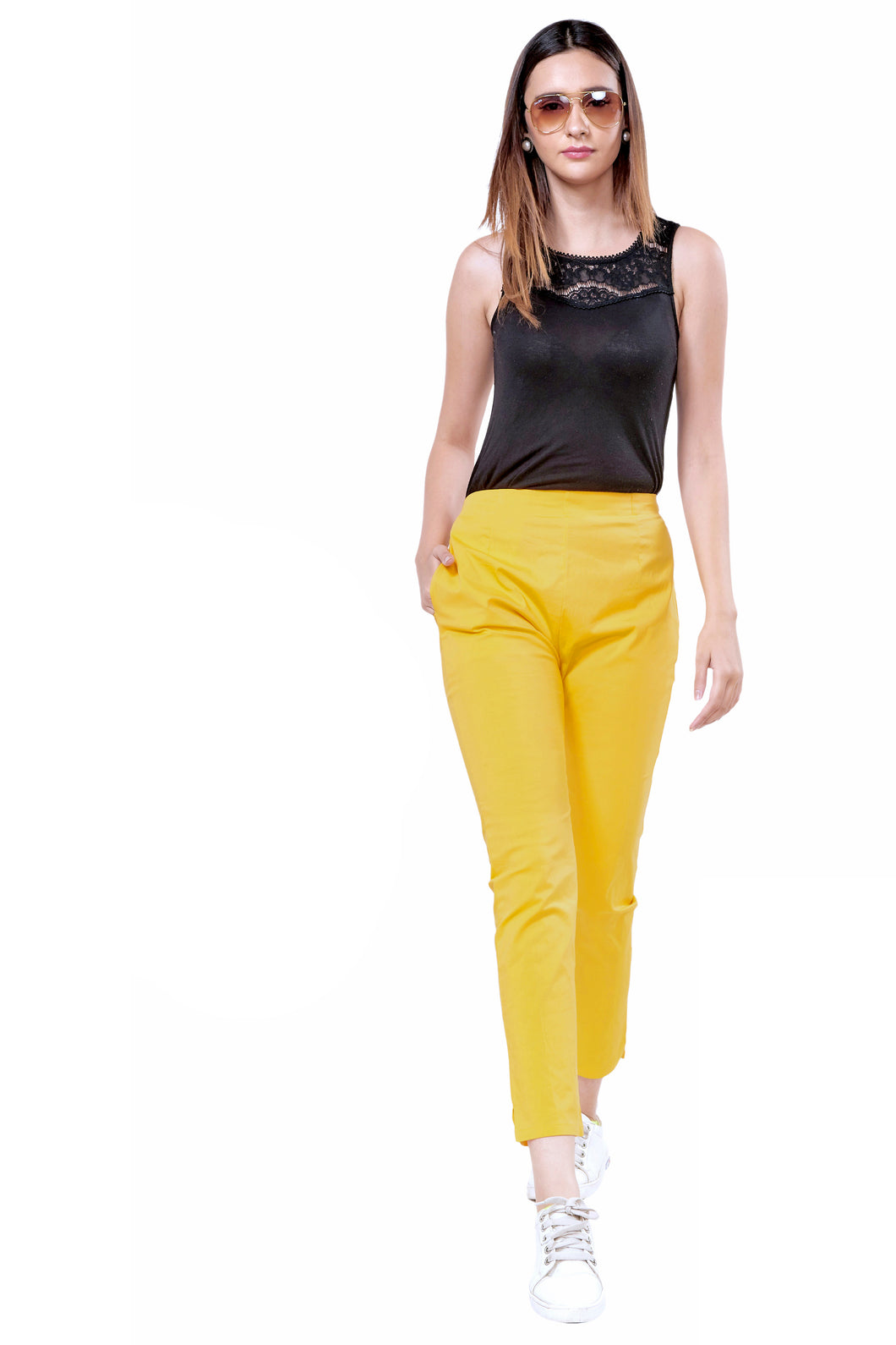 Straight Pants (Dark Mustard)